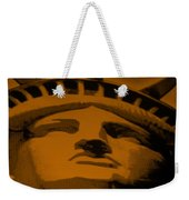 Statue Of Liberty In Orange Weekender Tote Bag