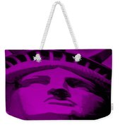 Statue Of Liberty In Purple Weekender Tote Bag