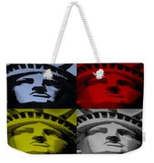 Statue Of Liberty In Quad Colors Weekender Tote Bag