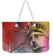 Statue Of Liberty New York Painting Weekender Tote Bag
