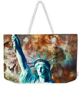 Statue Of Liberty - She Stands Weekender Tote Bag