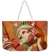 Statue Of Liberty Watercolor Portrait No 1 Weekender Tote Bag