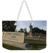 Statue Of Saint Clare Civic Center Park Weekender Tote Bag