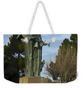 Statue Of Saint Clare Santa Clara Calfiornia Weekender Tote Bag