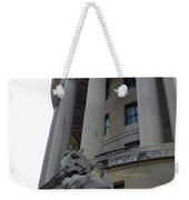 Statue Outside Of Federal Trade Commission Weekender Tote Bag