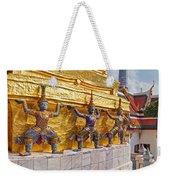 Statues At A Temple, Wat Phra Kaeo Weekender Tote Bag