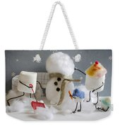 Stay Puff Snowman Weekender Tote Bag