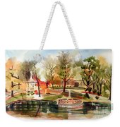 Ste. Marie Du Lac With Gazebo And Pond I Weekender Tote Bag