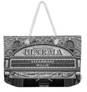 Steam Boat Willie Signage Main Street Disneyland Bw Weekender Tote Bag
