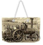 Steam Powered Tractor Sepia Weekender Tote Bag