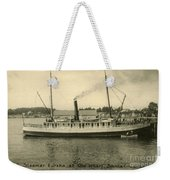Steamer Eureka At Old Whaf Santa Cruz California Circa 1907 Weekender Tote Bag