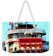Steamer Natchez Paddleboat Weekender Tote Bag