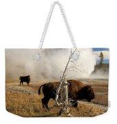 Steaming Bison Weekender Tote Bag