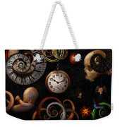 Steampunk - Abstract - The Beginning And End Weekender Tote Bag by Mike Savad