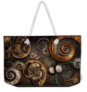 Steampunk - Abstract - Time Is Complicated Weekender Tote Bag by Mike Savad