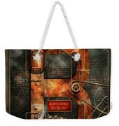 Steampunk - Alphabet - B Is For Belts Weekender Tote Bag