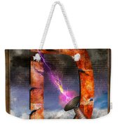 Steampunk - Alphabet - D Is For Death Ray Weekender Tote Bag