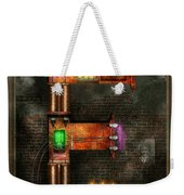 Steampunk - Alphabet - E Is For Electricity Weekender Tote Bag