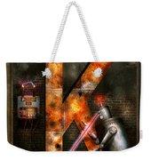 Steampunk - Alphabet - K Is For Killer Robots Weekender Tote Bag