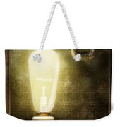 Steampunk - Alphabet - L Is For Light Bulb Weekender Tote Bag