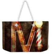 Steampunk - Alphabet - M Is For Mustache Weekender Tote Bag