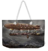 Steampunk - Blimp - Airship Maximus  Weekender Tote Bag
