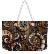 Steampunk - Clock - Time Machine Weekender Tote Bag by Mike Savad