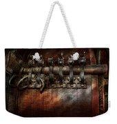 Steampunk - Electrical - Motorized  Weekender Tote Bag by Mike Savad