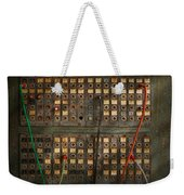 Steampunk - Phones - The Old Switch Board Weekender Tote Bag by Mike Savad
