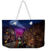 Steampunk - The Great Mustachio Weekender Tote Bag by Mike Savad