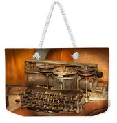 Steampunk - The History Of Typing Weekender Tote Bag by Mike Savad