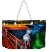 Steampunk - The Scream Weekender Tote Bag by Mike Savad