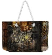 Steampunk - The Turret Computer  Weekender Tote Bag by Mike Savad