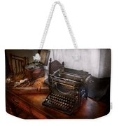Steampunk - Typewriter - The Secret Messenger  Weekender Tote Bag by Mike Savad