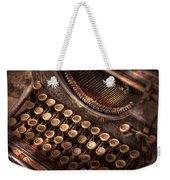 Steampunk - Typewriter - Too Tuckered To Type Weekender Tote Bag