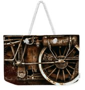 Steampunk- Wheels Of Vintage Steam Train Weekender Tote Bag