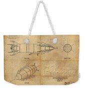Steampunk Zepplin Weekender Tote Bag by James Christopher Hill