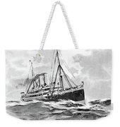 Steamship Menu, 1901 Weekender Tote Bag