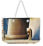 Steamship Travel Poster Weekender Tote Bag by Granger