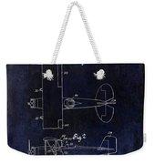 1929 Stearman Patent Drawing Blue Weekender Tote Bag