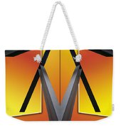 Steel Beams 02 Mirror Image Weekender Tote Bag