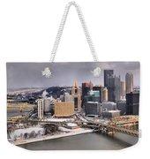 Steel City Storm Clouds Weekender Tote Bag