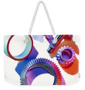 Steel Gears Weekender Tote Bag by Erich Schrempp