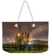 Steel Mill At Night Weekender Tote Bag