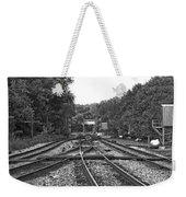 Steel Rail Intersections.   Point Of Rocks Md Weekender Tote Bag