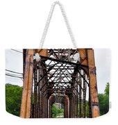 Steel Span Railroad Bridge Manayunk  Philadelphia Pa Weekender Tote Bag
