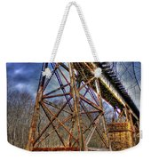 Steel Strong Rr Bridge Over The Yellow River Weekender Tote Bag