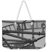 Steeple Chase In Black And White Weekender Tote Bag
