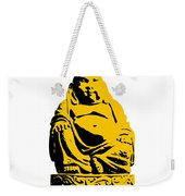 Stencil Buddha Yellow Weekender Tote Bag