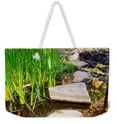 Stepping Stones Across Creek On Lower Palm Canyon Trail In Indian Canyons Near Palm Springs-ca Weekender Tote Bag
